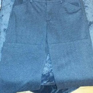 Gray patterned dress slacks